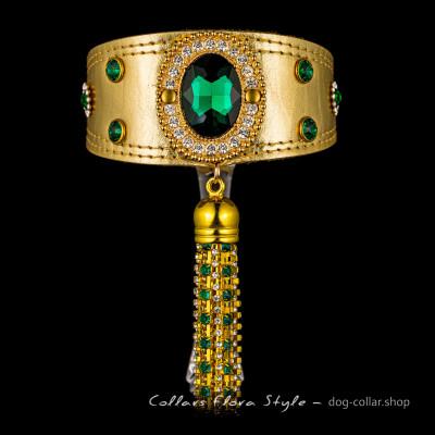Exclusive dog collar, luxury leather dog collar, Gold collar for Italian Greyhound, Sighthound, Whippet, Greyhound, Xoloitzcuintli, Poodle