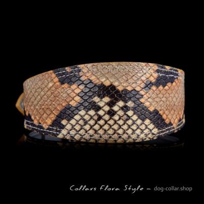 Leather dog collar for Sighthound, Greyhound, Afghan Hound, Saluki, Galgo, Azawakh, Lurcher, Borzoi dog