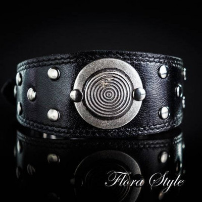 Leather collar, Handmade dog collar, Exclusive collar for Italian Greyhound, Sighthound, Whippet, Saluki, Galgo, Xoloitzcuintli, Windhund   Summer
